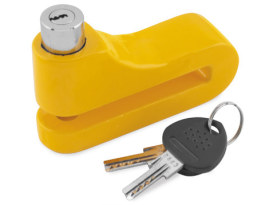 10mm Disc Lock with Yellow Finish.