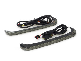 Sequential Low Profile Bagz Saddlebag Lights. Red Run/Brake, Amber Turn with Smoke Lens. Fits Touring 2014up.