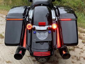 Sequential Low Profile Bagz Saddlebag Lights. Red Run/Turn/Brake with Smoke Lens. Fits CVO Touring 2014up.
