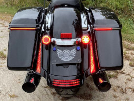 Sequential Low Profile Bagz Saddlebag Lights. Red Run/Turn/Brake with Smoke Lens. Fits Touring 2014up.