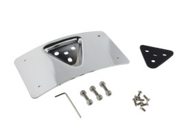 Curved Radius Laydown Number Plate Backing Plate - Chrome.