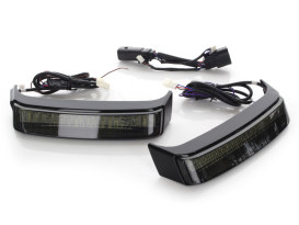 BAGZ™ Saddlebag Lights. Chrome Housing, Red Lens. Fits CVO Street Glide Touring Models 2014up