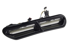 LED Batwing Vent Insert FLH 2014 Up Amber/White - Black.