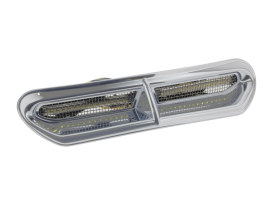 LED Batwing Vent Insert FLH 2014 Up Amber/White - Chrome.
