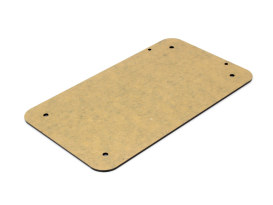 Flat Number Plate Backing Plate - Black.