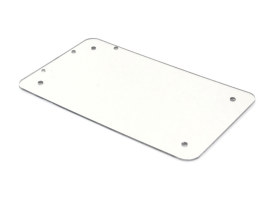 Flat Number Plate Backing Plate - Chrome.