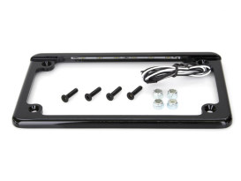 Flat Low Profile Number Plate Frame with LED Illumination - Black.