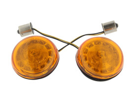 ProBeam LED Amber Turn Signal Inserts With Amber Lenses. Fits Front and Rear on most Models With OEM Bullet Style Indicators 2002up.