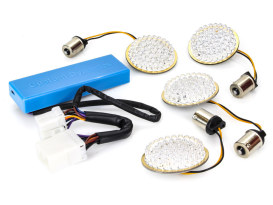 Turn Signal LED Kit with Plug'N'Play Load Equaliser. Fits most H-D 1997-2013.