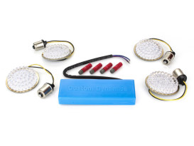 Turn Signal LED Kit with Hard Wire Load Equaliser. Fits most H-D 1997-2013.