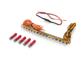 Integrated LED Light Bar with 3 Amber, 9 Red, 3 Amber Intrigated LED's.