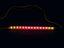 Integrated LED Light Bar with 6 Amber, 12 Red, 6 Amber Intrigated LED's.