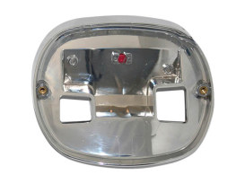 Taillight Base Plate for HD Taillight with Chrome Finish.