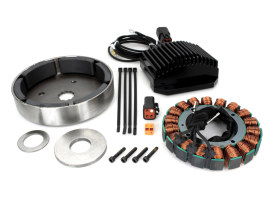 38 Amp 3 Phase Alternator Kit. Fits Dyna 1991-1998 & Softail 1984-1999.