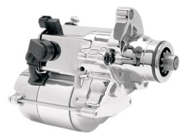 1.6kw Starter Motor - Chrome. Fits Softail 2007-2017, Dyna 2006-2017 & Touring 2007-2016.