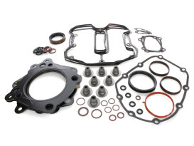 Engine Gasket Kit with 0.040in. Multi-Layer Steel MLS Head Gaskets. Fits Milwaukee-Eight 2017up with 114 Engine & 4.000in. Bore.