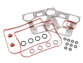 Gasket Kit; Rocker Sportster'07upw/Metal Rocker Base Gasket (Kit)
