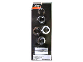 Rear Axle Spacer Kit - Chrome. Fits Softail 2008-17.