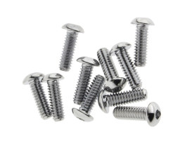 1/4-20 x 3/4in. UNC Polished Button Head Allen Bolts - Chrome.