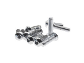 1/4-20 x 7/8in. UNC Polished Button Head Allen Bolts - Chrome.