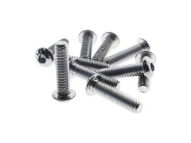 1/4-20 x 1in. UNC Polished Button Head Allen Bolts - Chrome.