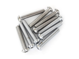 1/4-20 x 1-1/2in. UNC Polished Button Head Allen Bolts - Chrome.