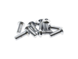 3/8-16 x 1in. UNC Polished Button Head Allen Bolts - Chrome.