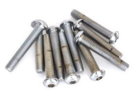 1/2-13 x 3in. UNC Polished Button Head Allen Bolt - Chrome.