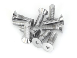 7/16-14 x 1-1/2in. UNC Polished Flat Head Allen Bolt - Chrome.