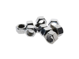 Nut; 3/8-24 UNF. Hex Nut - Chrome. (Pack 10)