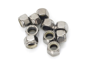 Nut; 7/16-20 UNF. Nylon Insert Locknut with Chrome Finish. (Each)