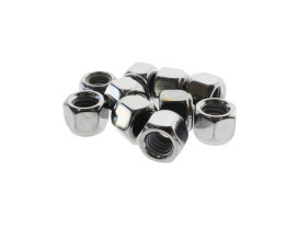 Colony Machine Nut; 3/8-16 UNC. Nylon Insert Locknut with Chrome Finish.  (Pack 10)