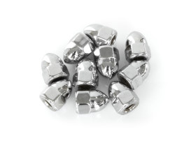 Colony Machine Nut; 1/4-28 UNF. Acorn OEM Style Nut with Chrome Finish.  (Pack 10)