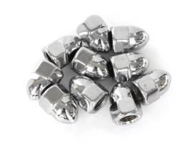 Colony Machine Nut; 3/8-24 UNF. Acorn OEM Style Nut with Chrome Finish.  (Pack 10)
