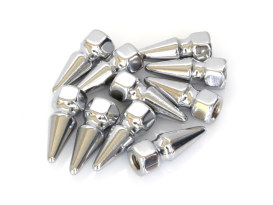 Nut; 1/4-28. Pike Nut with Chrome Finish. (Pack 10)