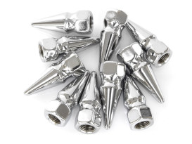 Nut; 3/8-24. Pike Nut with Chrome Finish. (Pack 10)