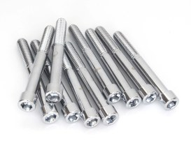 3/8-24 x 3-1/4in. UNF Polished Socket Head Allen Bolt - Chrome.