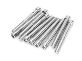 3/8-24 x 3-1/2in. UNF Polished Socket Head Allen Bolt - Chrome.