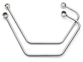 Saddlebag Supports - Chrome. Fits Yamaha V-Star XVS650 Classic 1998up.