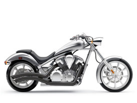 Black Speedster Swept Exhaust for 2010 and later Honda Fury, State-Line and Sabre models