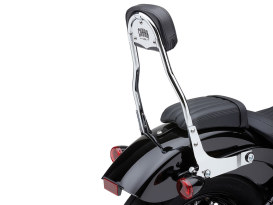 Short Quick Detachable Sissy Bar Kit - Chrome. Fits Deluxe, Heritage Classic, Softail Slim & Street Bob 2018up & Standard 2020up.