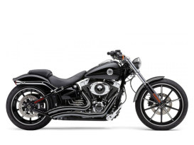 Speedster Short Swept Exhaust with Black Finish. Fits Suits Breakout 2013-2017 & Rocker 2008-2011 Models.