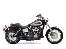 Black Speedster Short Swept Exhaust. Fit Dyna 2006-2017