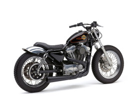 Black El Diablo 2-into-1 Exhaust System for 1986-2003 Sportster, Includes Black End Cap