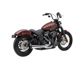 Chrome El Diablo 2-into-1 Exhaust System for 2018up Heritage & Sport Glide Softail Models. Includes Black End Cap.
