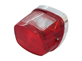 Taillight with Red Lens Fits Big Twin 1973-1998.