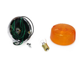 Turn Signal with Threaded Body & Separate Wiring Hole. Fits FXST, Sportster & Dyna 1986-2001.
