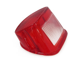Taillight Lens with Red Finish. Fits Big Twin 1973-1998.