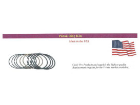 +.020in. Size Cast Piston Rings. Fits 80ci/1340cc Big Twin Shovel 1978-1984.