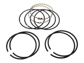+0.005in. Size Cast Piston Rings. Fits Evolution Big Twin 1984-1999 & 1200cc Sportster 1988-2003.
